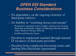 open edi standard business considerations