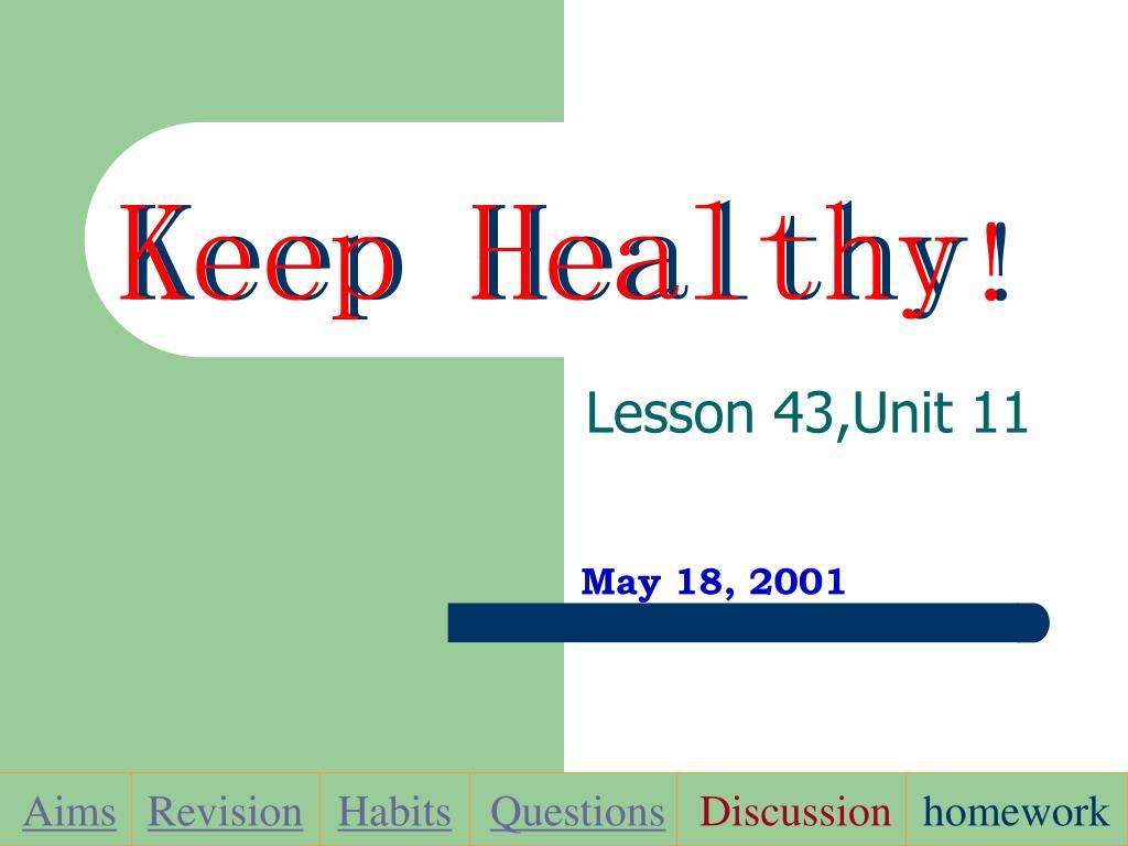 keep healthy l.