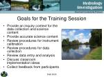 goals for the training session
