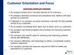 customer orientation and focus