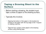 taping a drawing sheet to the surface