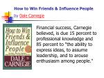 how to win friends influence people by dale carnegie