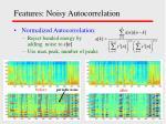 features noisy autocorrelation