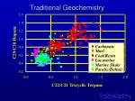 traditional geochemistry