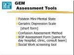 gem assessment tools