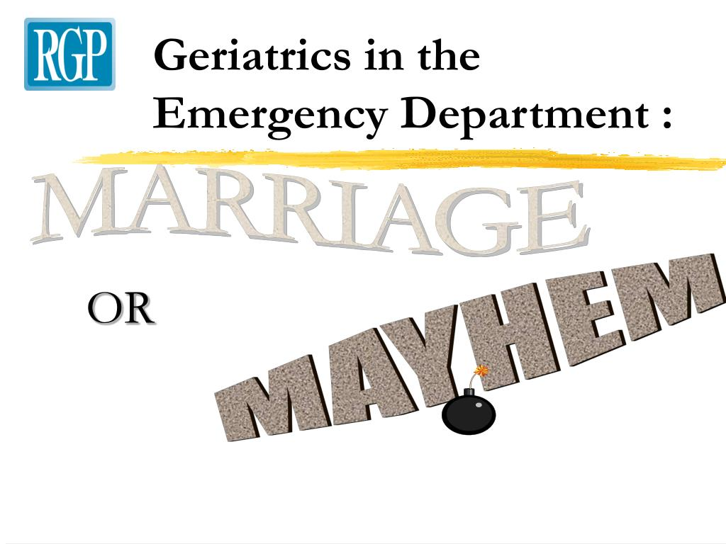 geriatrics in the emergency department