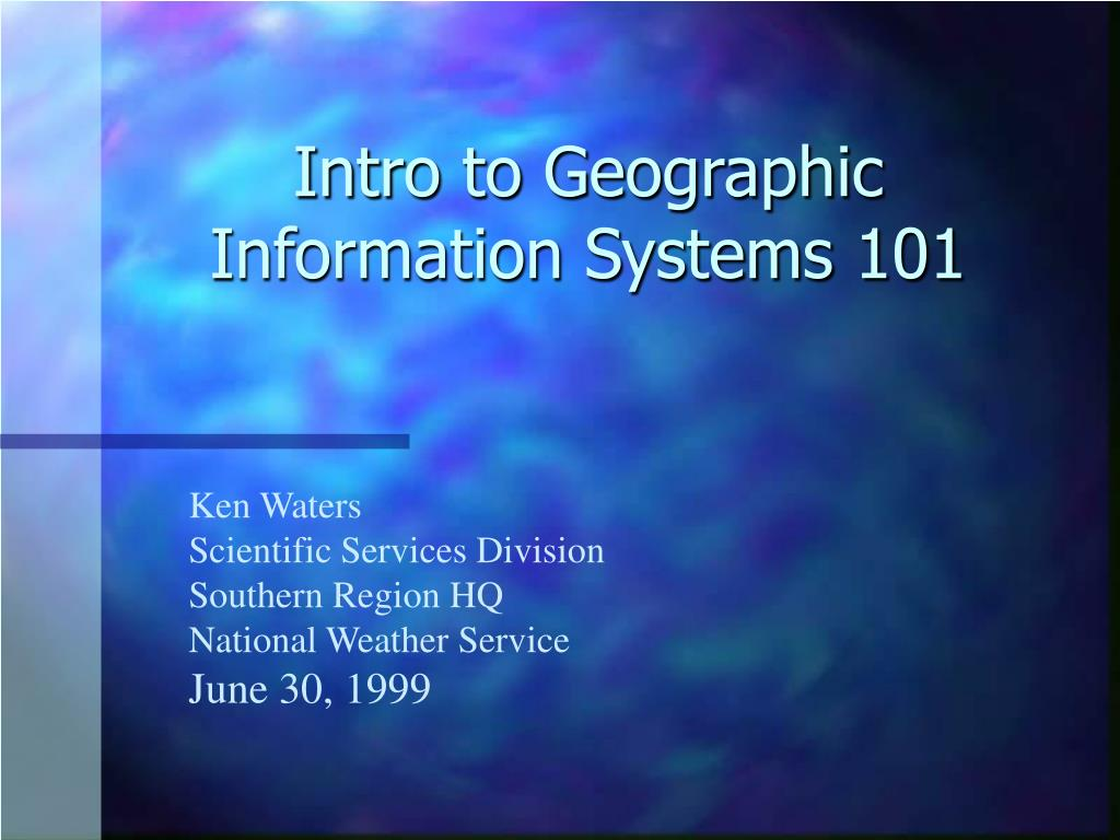 intro to geographic information systems 101 l.