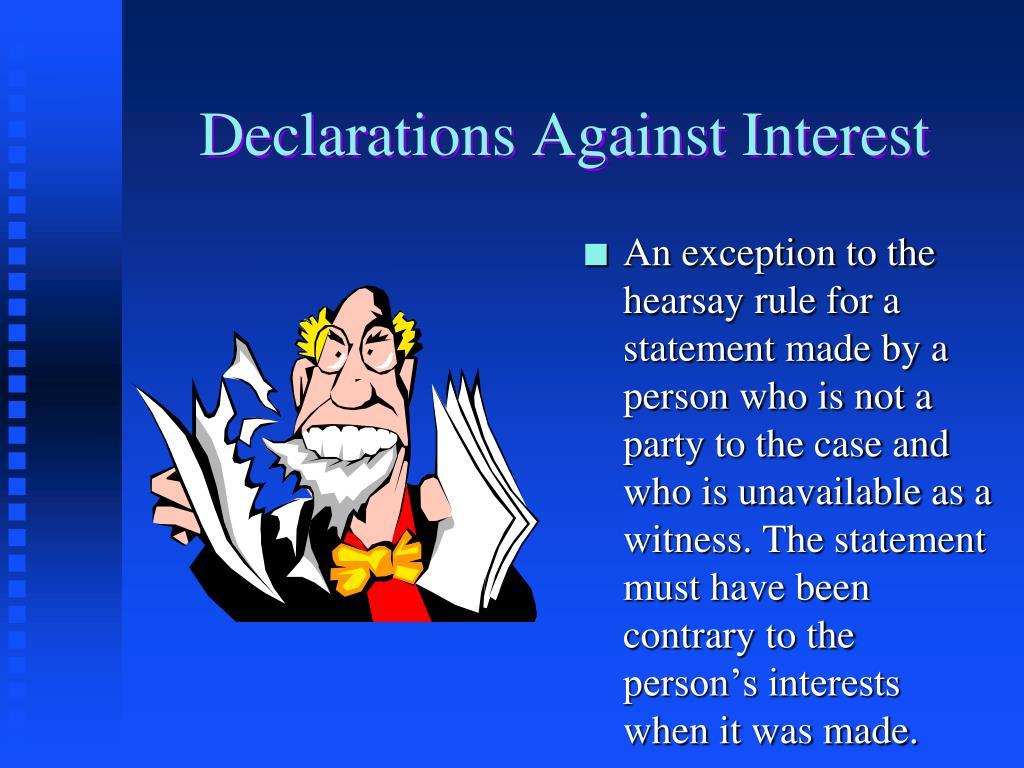 Declarations Against Interest