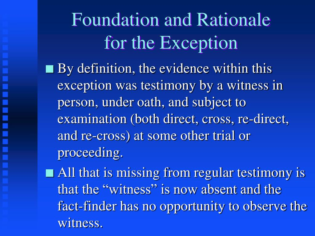 Foundation and Rationale