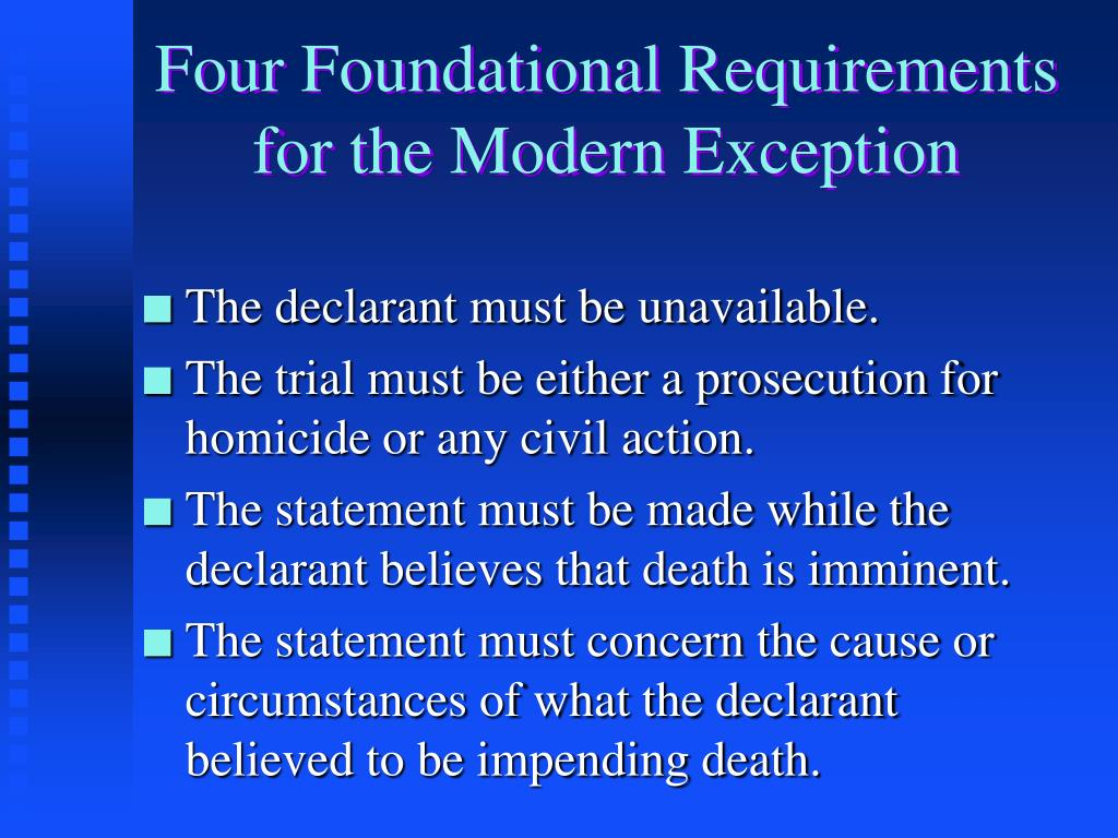 Four Foundational Requirements