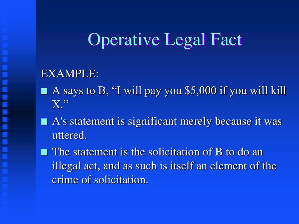 Operative Legal Fact