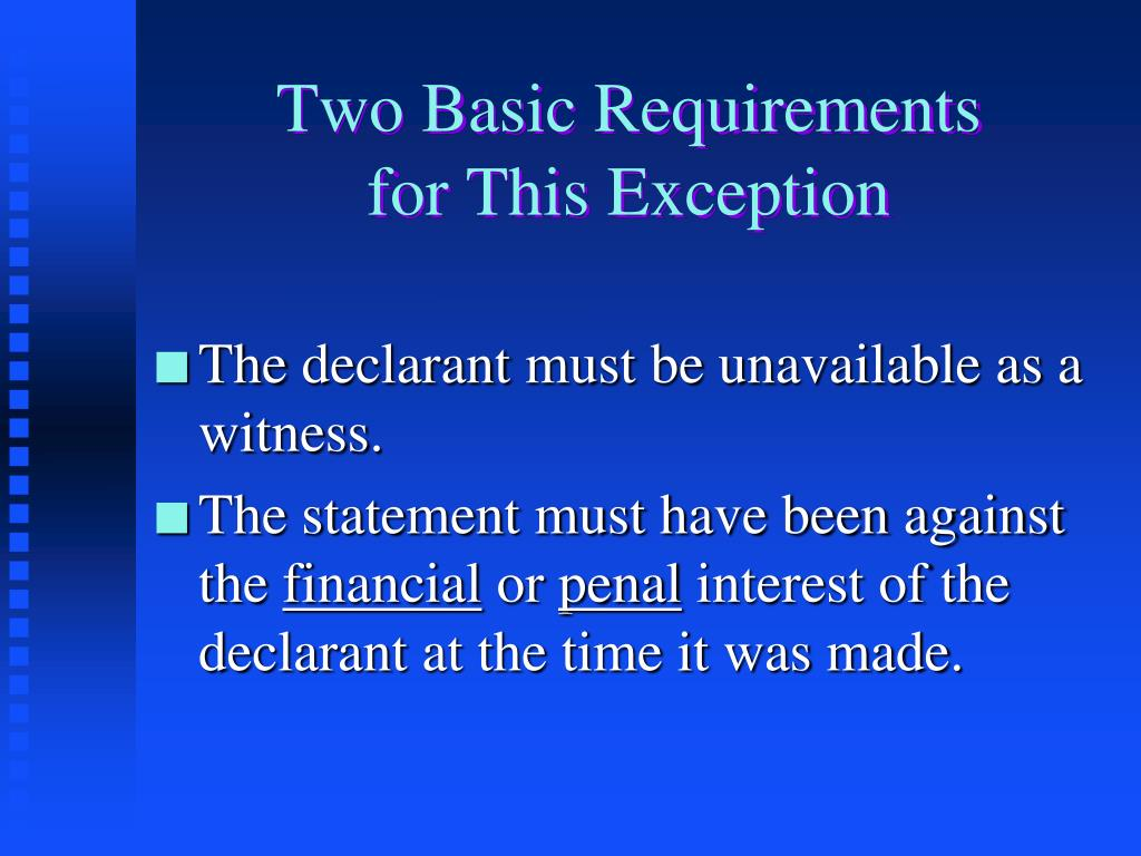 Two Basic Requirements