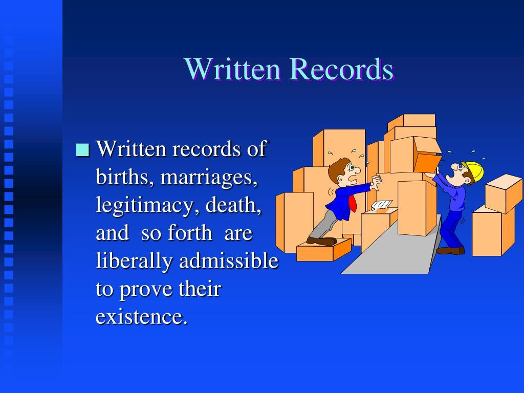 Written Records