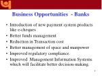 business opportunities banks8
