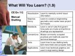 what will you learn 1 9