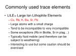 commonly used trace elements