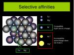 selective affinities