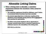 allowable linking claims