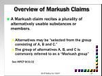 overview of markush claims