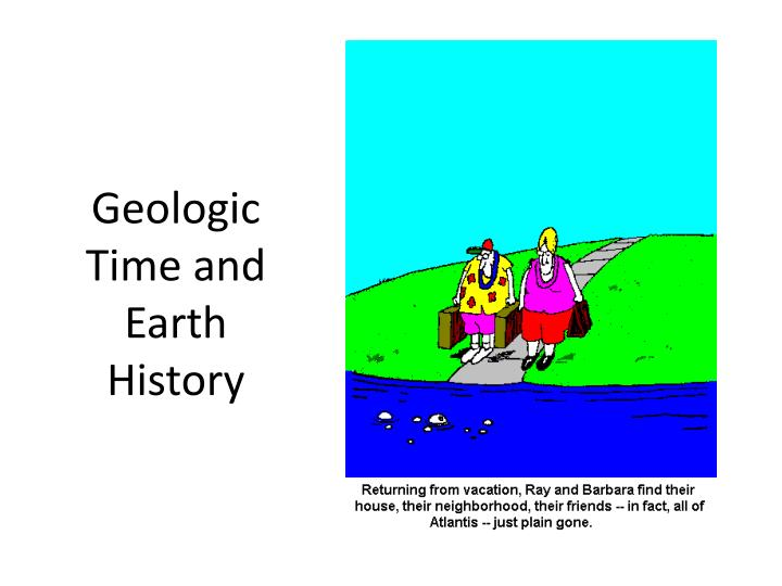 geologic time and earth history n.