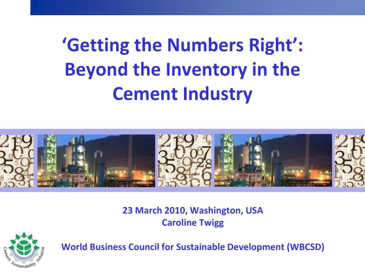 getting the numbers right beyond the inventory in the cement industry n.