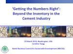 getting the numbers right beyond the inventory in the cement industry