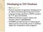 developing an oo database