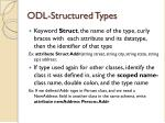 odl structured types