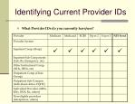 identifying current provider ids1
