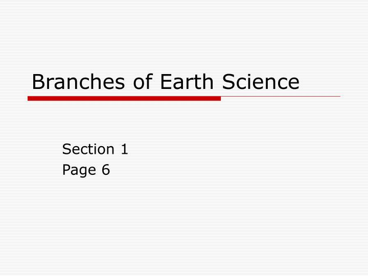 branches of earth science n.