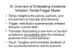 iii overview of embedding incidental imitation tempt trigger model