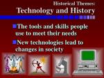 historical themes technology and history