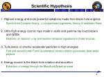 scientific hypothesis