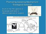 premating isolating mechanism ecological isolation16
