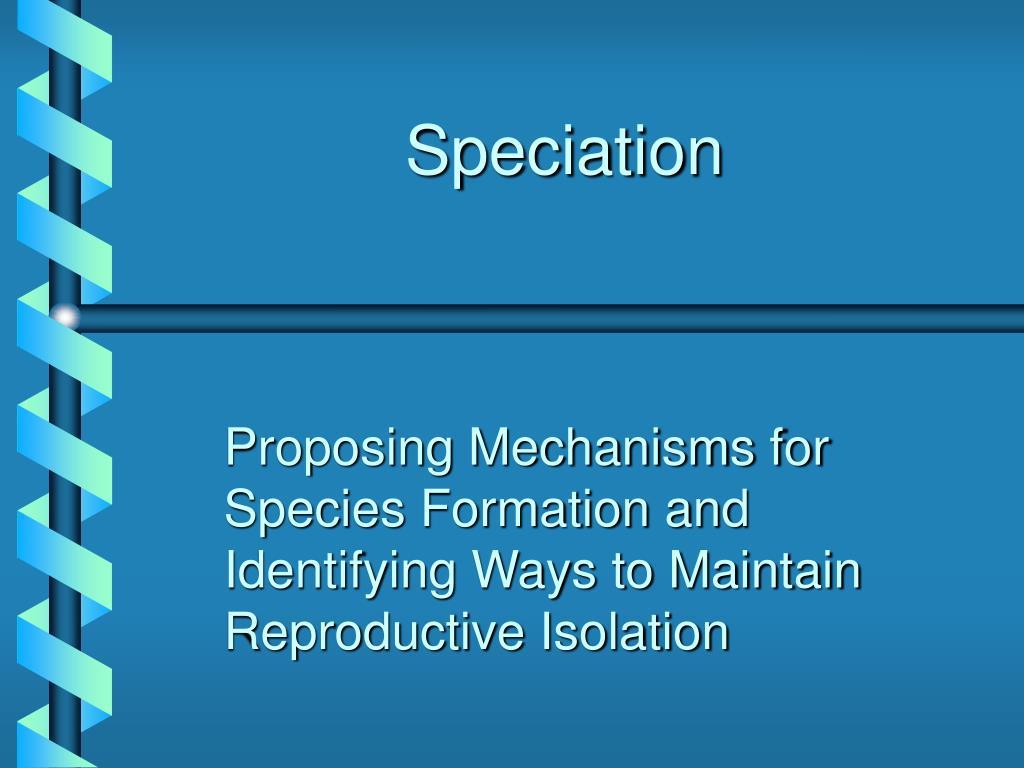 speciation l.