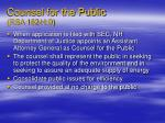 counsel for the public rsa 162 h 9