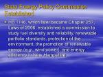 state energy policy commission established