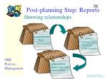 post planning step reports56