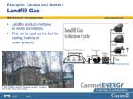 examples canada and sweden landfill gas