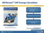 retscreen chp energy calculation