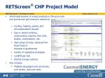retscreen chp project model