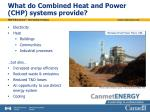 what do combined heat and power chp systems provide
