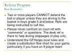 referee program rule reminders