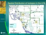 spatial distribution of isotopes in the lfa