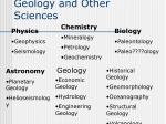 geology and other sciences