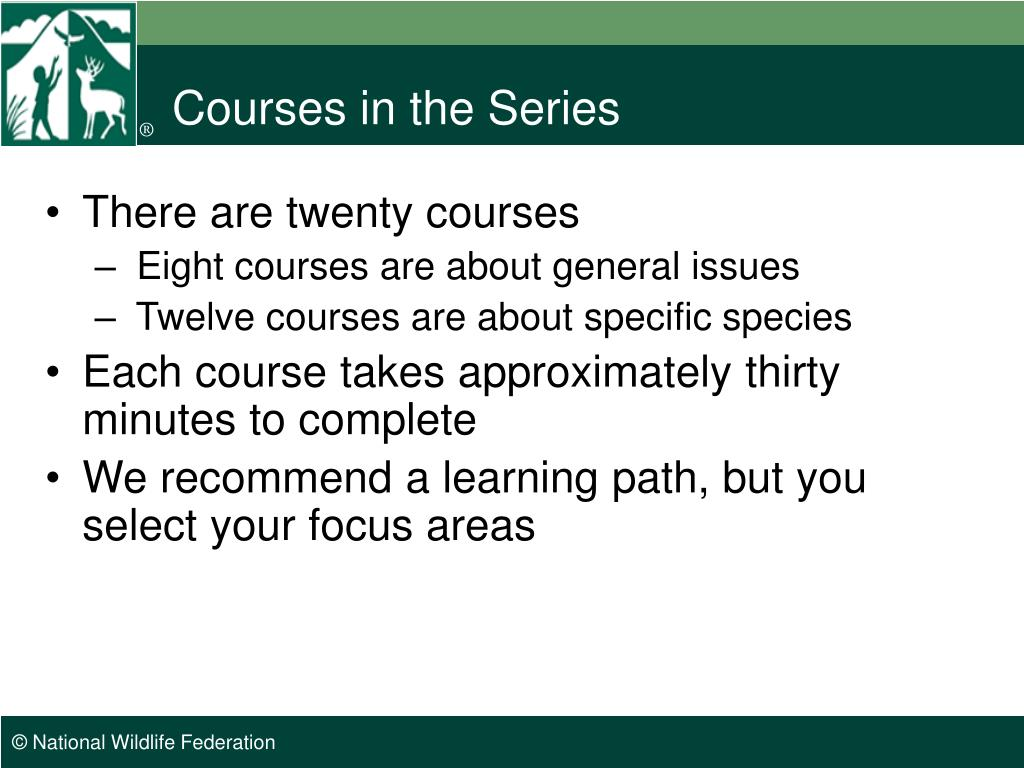 Courses in the Series