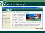 nature s fire alarms