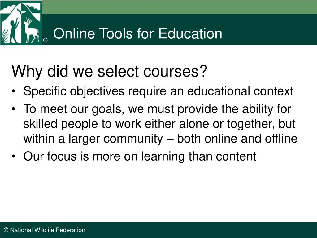 Online Tools for Education