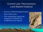 current law pennsylvania land based disposal