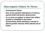 non organic failure to thrive